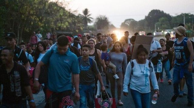 Caravana migrante (AFP)