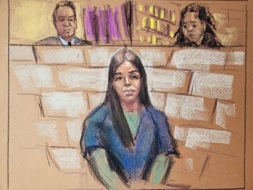 Эмма Коронель во время ее выступления перед мировым судьей США (Изображение: Reuters)