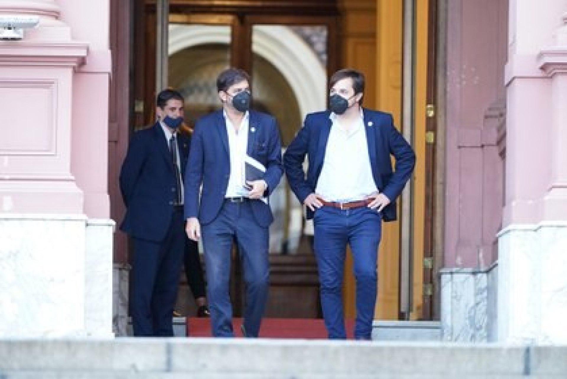 Los representantes del gobierno bonaerense en la negociación: Carlos Bianco y Nicolás Kreplak (Franco Fafasuli)