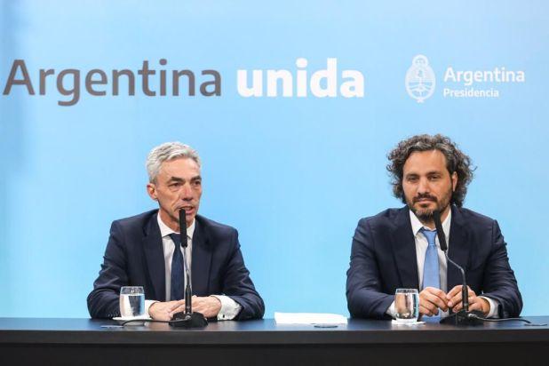 Santiago Cafiero y Mario Meoni (Foto Presidencia)