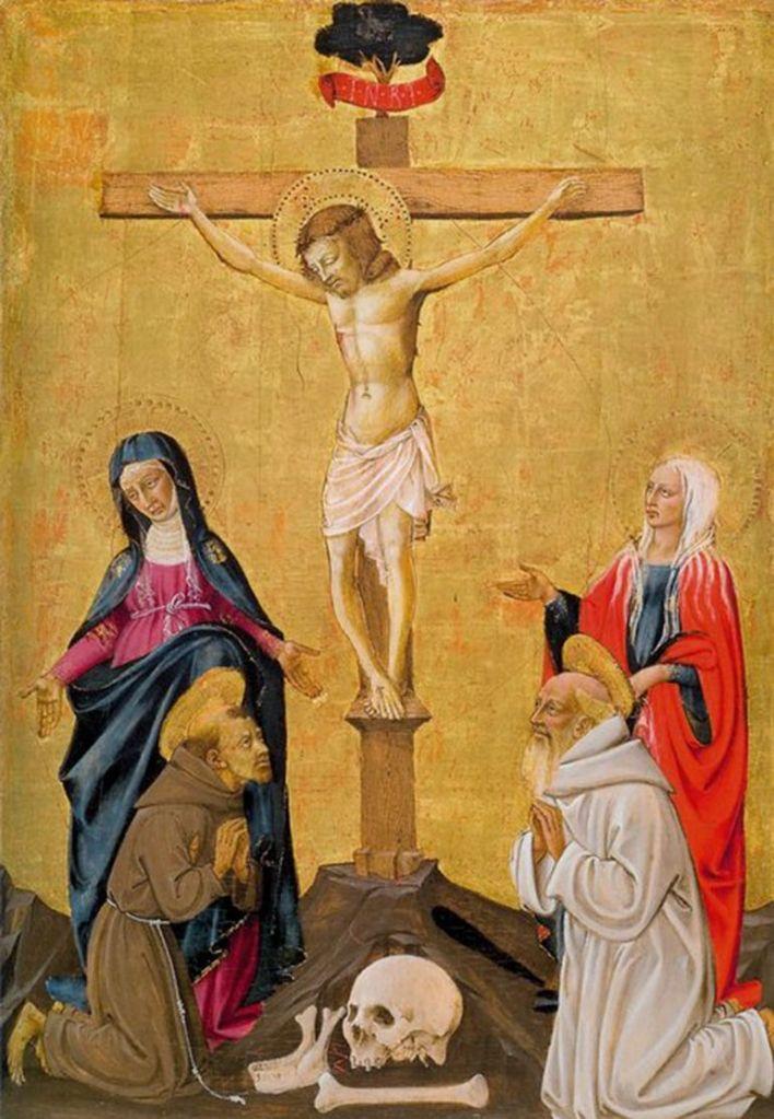 """María de Magdala bajo la cruz. Para el Papa Juan Pablo II, en esa ocasión """"las mujeres fueron más fuertes que los hombres""""."""