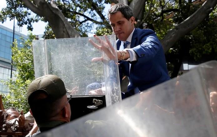 La Guardia Nacional impidió que Guaidó acceda a la Asamblea (Reuters)