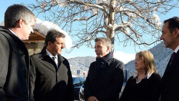 Macri y Massa, juntos en Davos