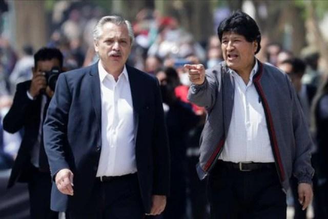 Alberto Fernández junto a Evo Morales (Foto: Reuters)