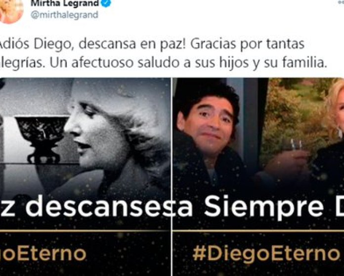 Mirtha Legrand expressed her affection for Diego Maradona