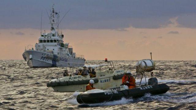 La Guardia Costera de Japónsolicitó que los barcos chinos se retiraran(@TaiwanNews886)