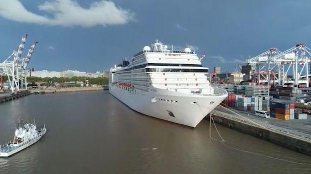 Crucero varado en el puerto de Buenos Aires captura
