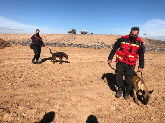 CEAMSE: la nueva búsqueda con perros de la Federal.