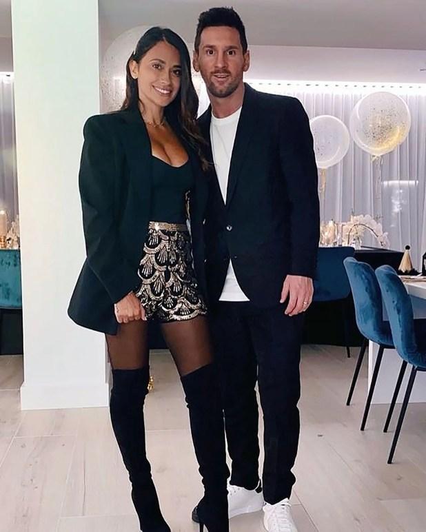 Lionel Messi y Antonela Roccuzzo año nuevo