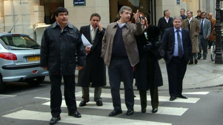 Fabián Gutiérrez con Fernández y los Kirchner