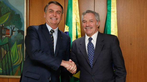 Jair Bolsonaro y Felipe Solá (Foto: Reuters)