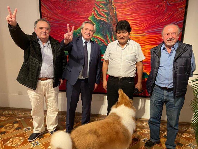 Alberto Fernández y Evo Morales celebraron el triunfo del MAS con una cena en Olivos