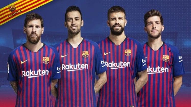 Los cuatro capitanes del Barcelona