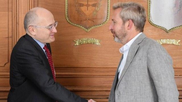 Cardarelli y Frigerio, en febrero, durante la última revisión técnica del acuerdo stand by