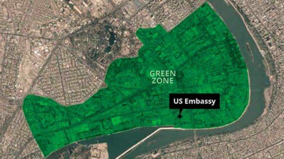 La Zona Verde en Bagdad