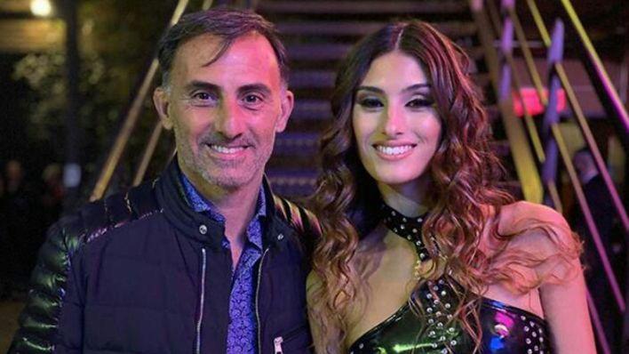 Diego Latorre con su hija