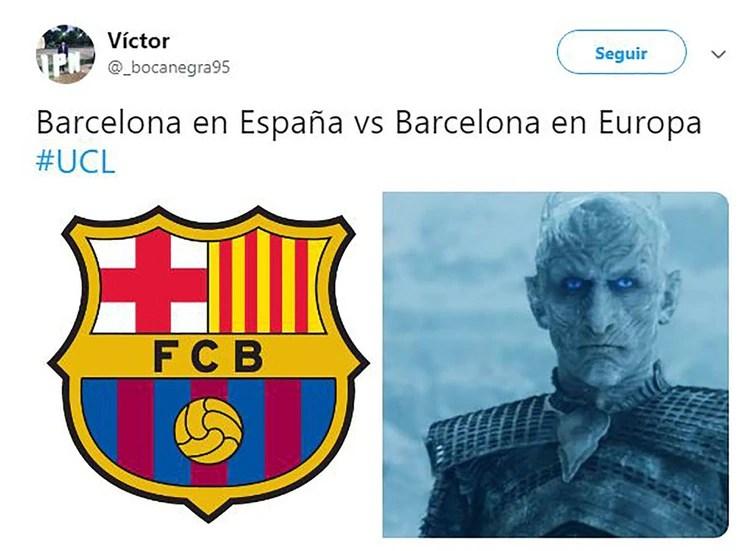 """Otro usuario que se burla del Barcelona y toma al White Walker (Caminante Blanco) de """"Game Of Thrones"""""""