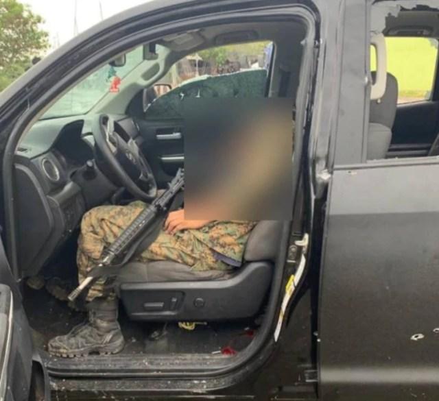 Según la Policía Estatal, mientras realizaban un rondín fueron atacados por miembros del cártel del Noreste. El enefrentamiento culminó en el abatimiento de 8 presuntos sicarios (Foto: Twitter)