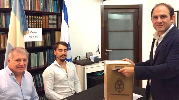 El voto de Mariano Caucino, embajador argentino en Israel