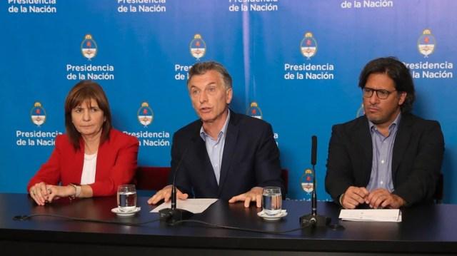 Patricia Bullrich, Mauricio Macri y Germán Garavano