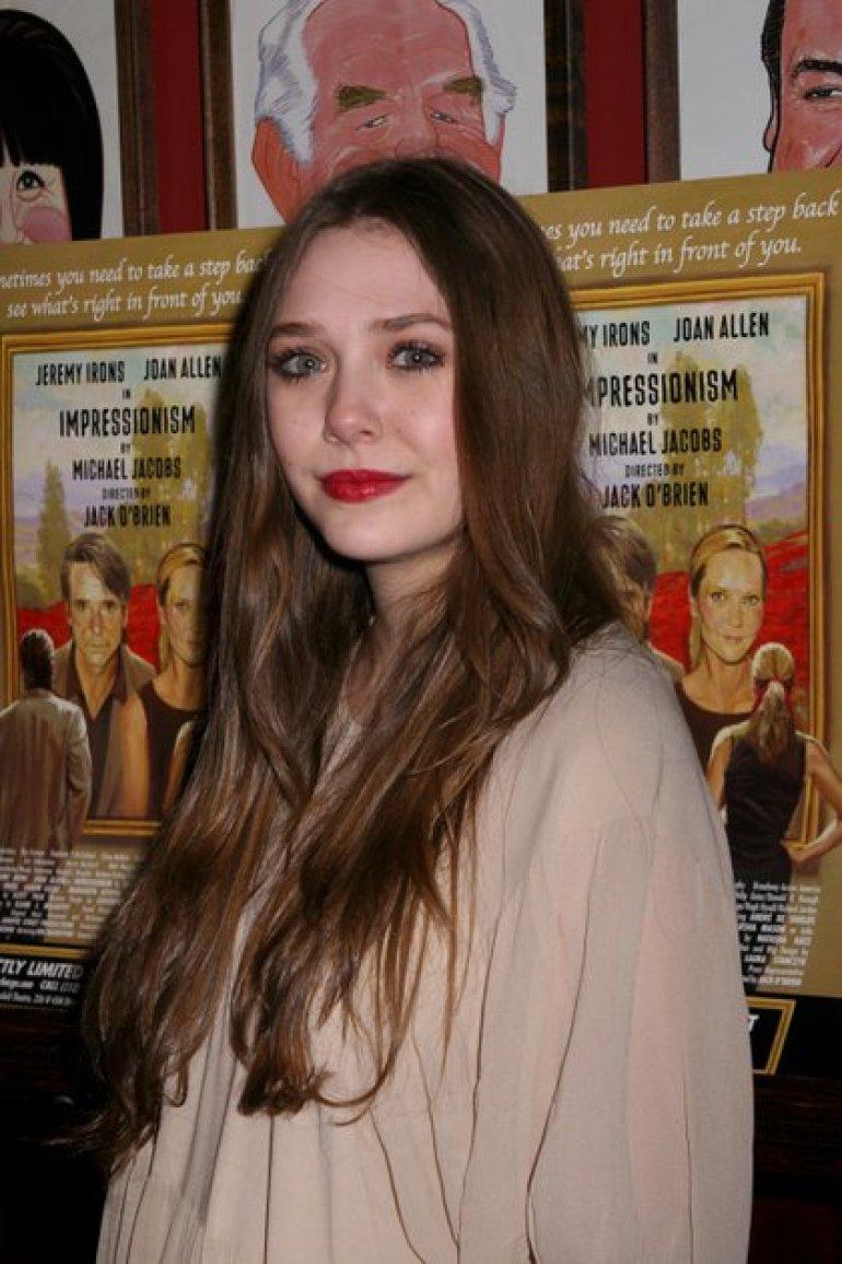 Elizabeth Olsen as a teenager (Credit: Carolyn Contino / EIB / Shutterstock)