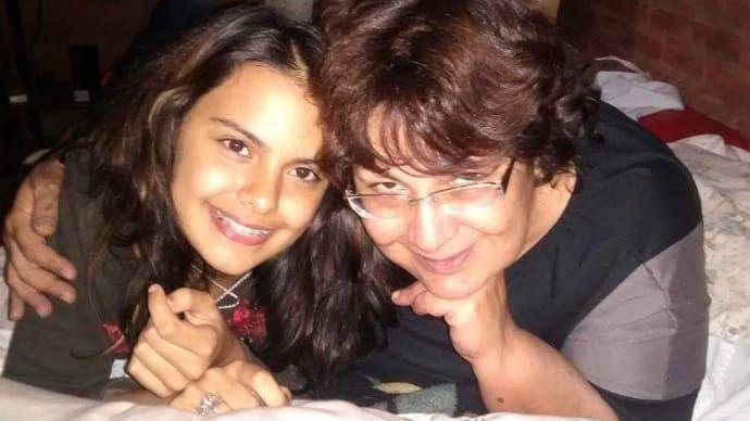 Anahí y su madre, Silvia.