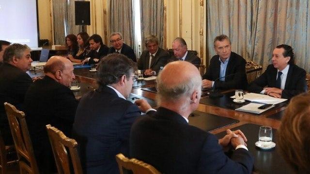 Macri recibió a los empresarios en Casa Rosada