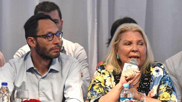 Elisa Carrió junto a Maximiliano Ferraro, uno de los dirigentes más cercanos