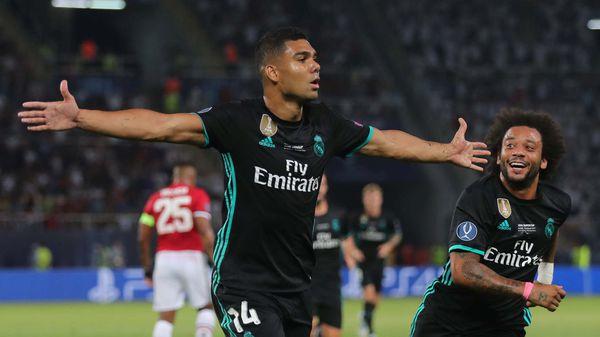 Casemiro marcó el primer gol del partido (REUTERS)
