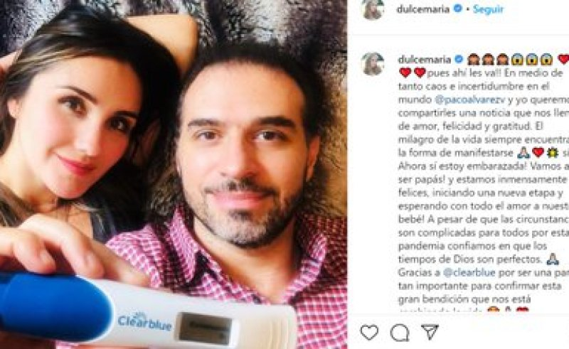 Así fue el comentario en el que Dulce María dio a conocer sobre su embarazo (Foto: Instagram @dulcemaria)