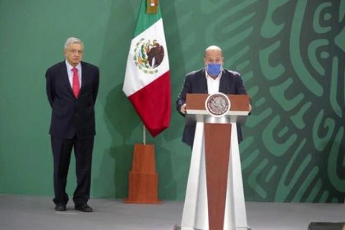 Con esta alianza bajo el brazo, López Obrador se reunió con el gobernador Enrique Alfaro, de Movimiento Ciudadano, el más crítico con las medidas sanitarias y económicas del presidente.  (Foto: Cortesía Presidencia)