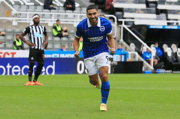 Neal Maupay juega actualmente en el Brighton de Inglaterra tras iniciarse en el fútbol francés (Foto: Reuters)