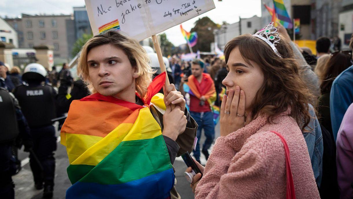 Marcha del Orgullo Gay en Lublin, Polonia (Photo by Wojtek RADWANSKI / AFP)