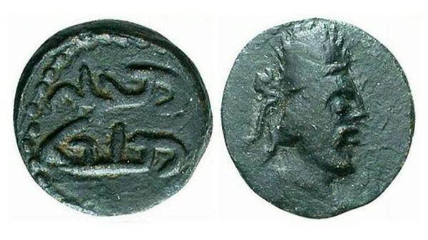 La moneda del Rey Manu que para Ralph Ellis muestra el verdadero rostro de Jesús