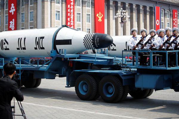 El misil'Pukkuksong', un artefacto con un supuesto alcance intercontinental. (REUTERS)