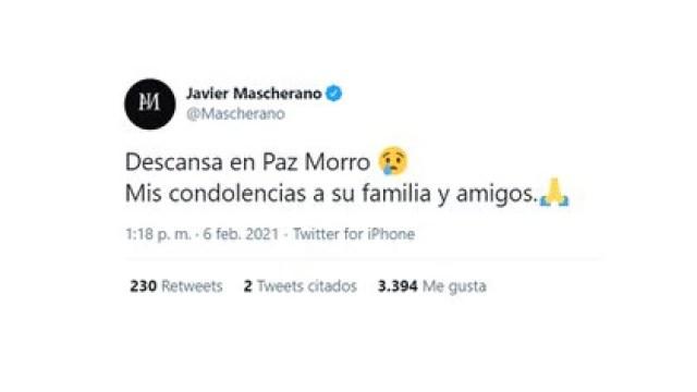 La publicación de Javier Mascherano despidiéndose del Morro García