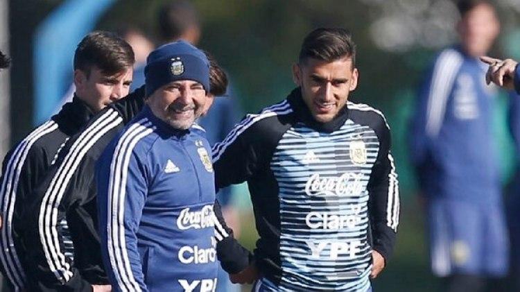 Eduardo Salvio sería el lateral derecho ante Islandia en lugar de Gabriel Mercado(Nicolás Aboaf)