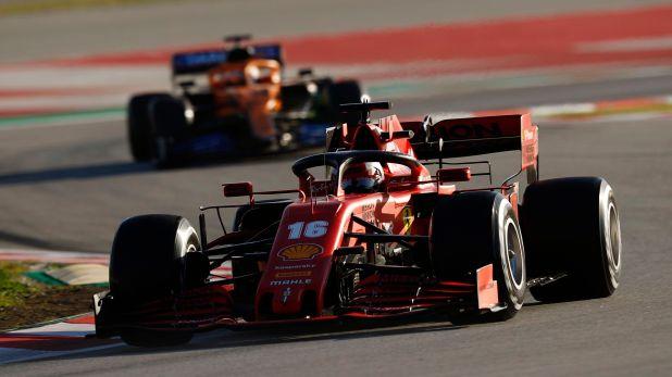 La Fórmula 1 correrá por primera vez sin público en un autódromo. Será en Baréin. En la imagen, Charles Leclerc en los últimos test de pretemporada (Photo by Glenn Dunbar / LAT Images).