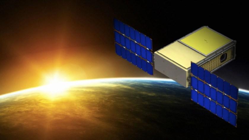 Representación artística del microsatélite Biosentinel (NASA)