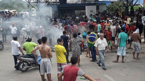Semanas atrás hubo incidentes en la localidad brasileña de Pacaraima, fronteriza con Venezuela (Reuters)