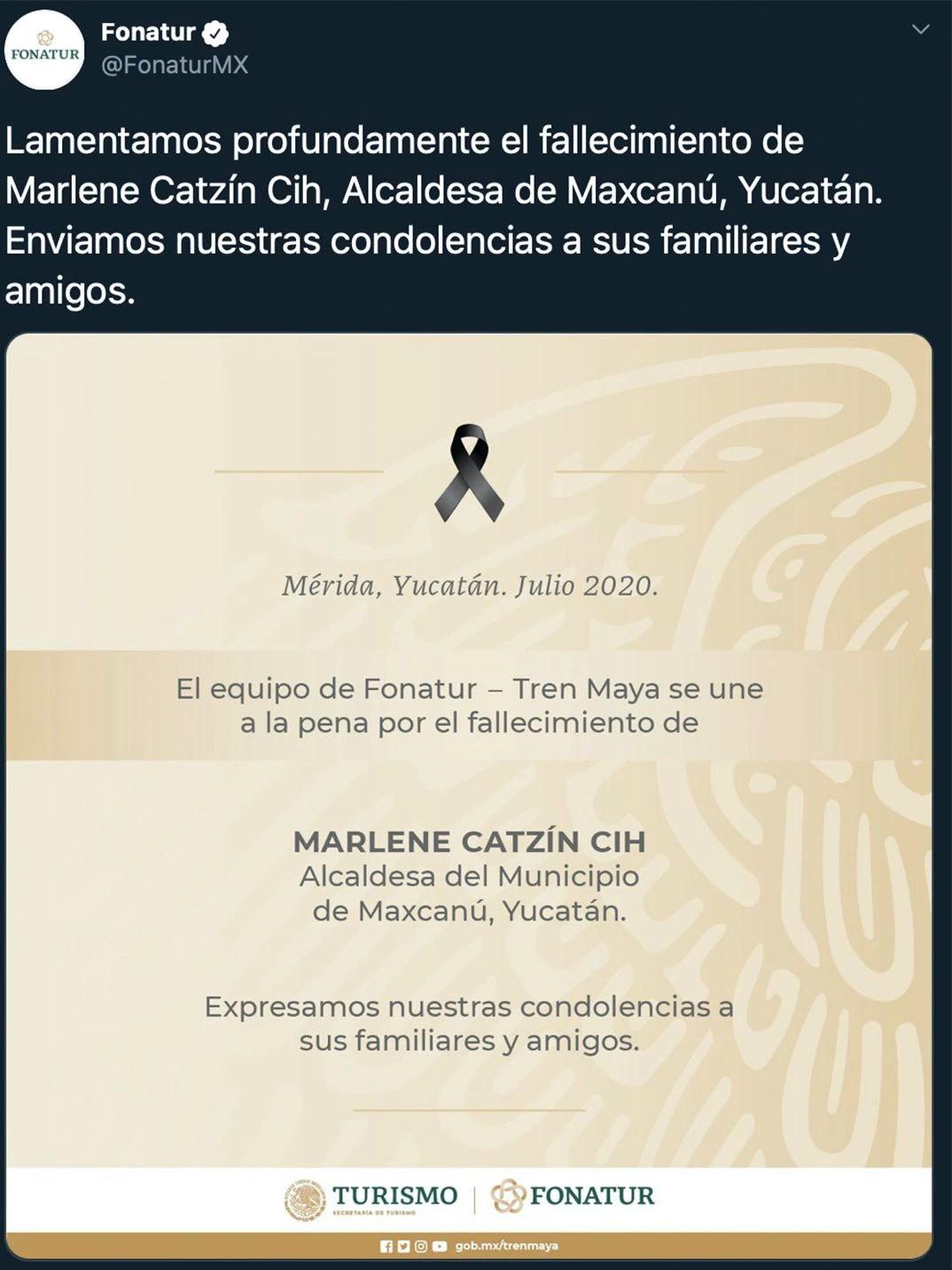 Marlene Catzín Cih (Foto: Twitter@FonaturMX)