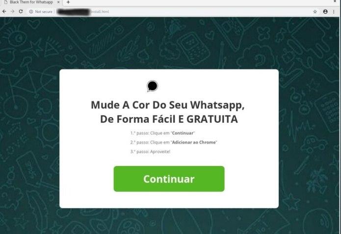 El link puede aparecer también en portugués, según indican desde Eset.