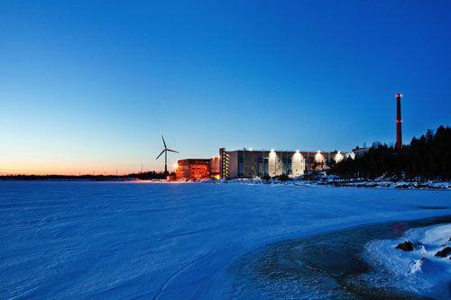 El centro de datos de Google en Hamina, Finlandia.