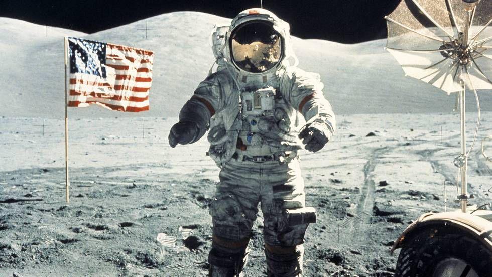 Una de las últimas fotos del hombre en la Luna, con la misión Apolo 17 (NASA)