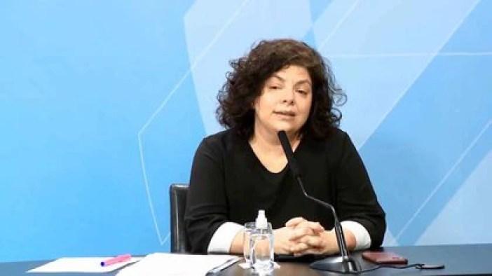 Carla Vizzotti, en una última conferencia de prensa