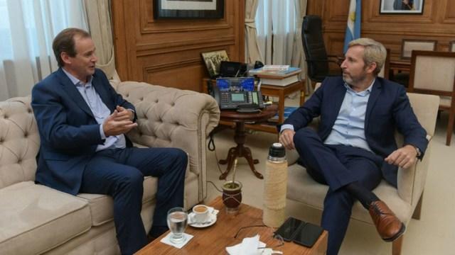 El gobernador Bordet de Entre Ríos y Frigerio, la semana pasada en la primera ronda de diálogo