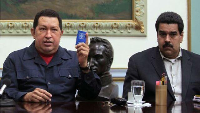 Hugo Chávez y Nicolás Maduro
