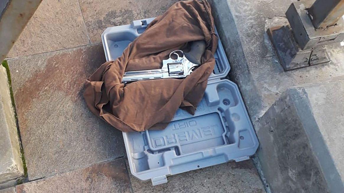 El arma encontrada en el maletín que arrojó a la Casa Rosada