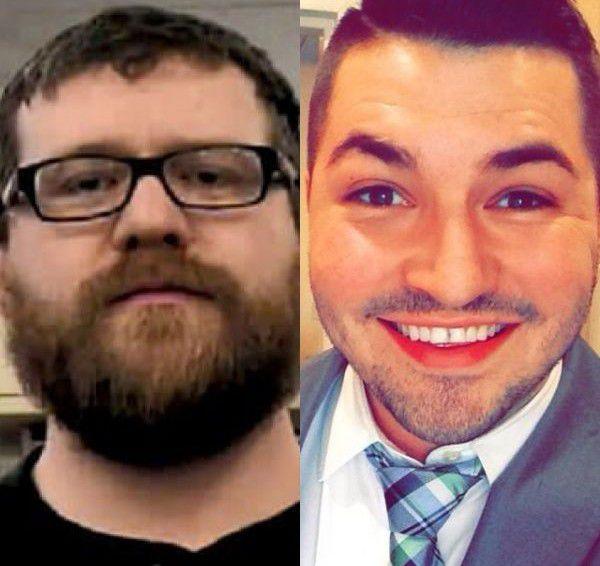 Benedict Clayton (izquierda) abrió fuego contra el pasajero, James Porter por el pago de una tarifa de limpieza (Foto: Facebook James Porter)
