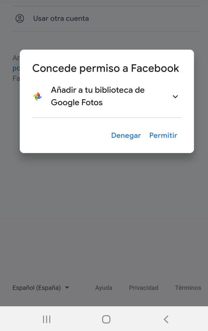 FAcebook transferir fotos